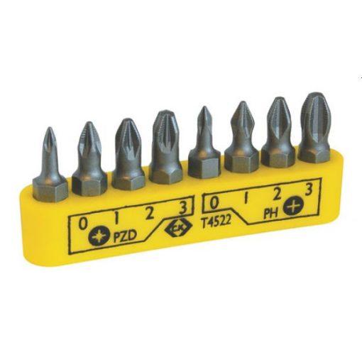 CK 4522 PH+PZD 25mm-es bit készlet 8db