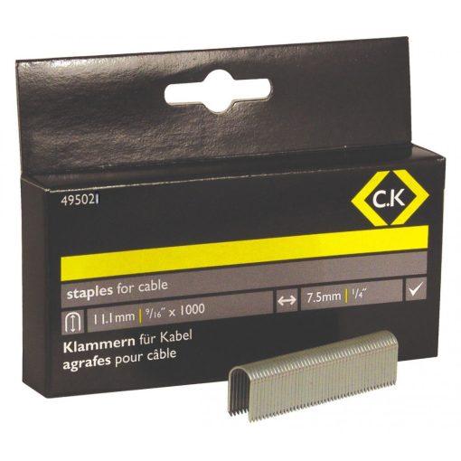 CK 6225 tűzőgépkapocs 11.1x7,5mm 1000db